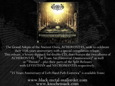 Acherontas - 15 Years Anniversary of Left Hand Path Esoterica