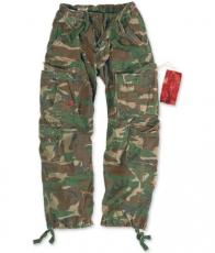 Surplus Airborne Vintage Trousers - Size M (woodland)