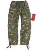 Surplus Airborne Vintage Trousers - Size M (woodland)