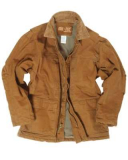 Work Coat Cotton Canvas Coyote - size L