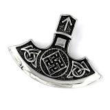 Edelstahlanhänger - Keltisches Symbol nach indischem Vorbild geschmiedet