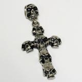 Edelstahlanhänger - Totenkopf Kreuz