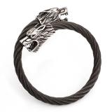 bracelet Odins Wölfe, black
